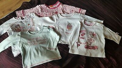 5no long sleeved blouses for baby girl 6-9