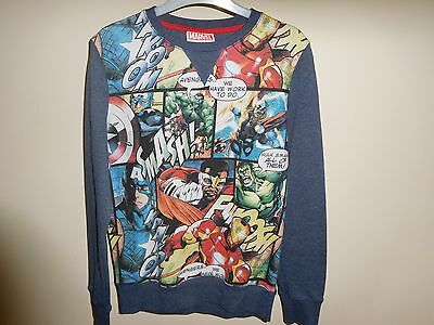 Boys Next Marvel Sweatshirt Immaculate Condition Age 11 Years