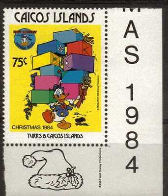 Caicos Islands:1984:75c Donald Duck & Parcels,(Disney),MNH.