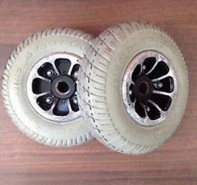 2x Pride / Shoprider / Revo / Mobility Scooter Wheels And Tyres 2.80 / 2.50 - 4