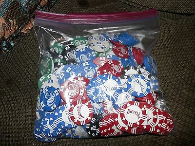 Lot Of 300 Used Assorted Poker Chips Mixed Lot
