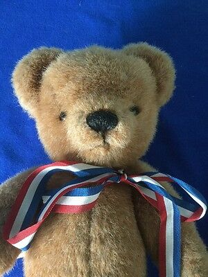 Vintage Brown Jointed English Bear By Merrythought