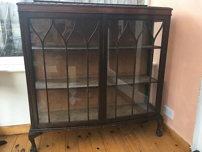 Antique glass dusplay cabinet