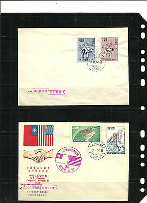 STAMPS, ASIA, CHINA,TAIWAN 2 fdc, nice and sweet