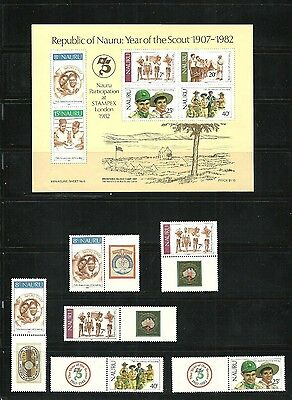 stamps,NAURU,YEAR OF THE SCOUT 1907-1982.MNH