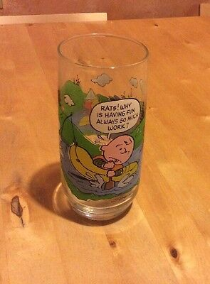 Vintage 1960's McDonald's Peanuts Camp Snoopy Collection Glass Tumbler