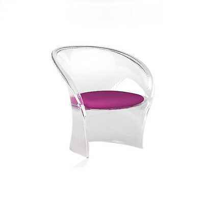 Magis - Pierre Paulin - Flower Low Chair Clear- STOCK CLEAR OUT RRP £686