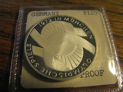 1972 D 10 Mark Germany Silver Coin   Box# NB F