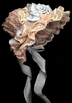 Antique Reproduction Doll Hat 7""