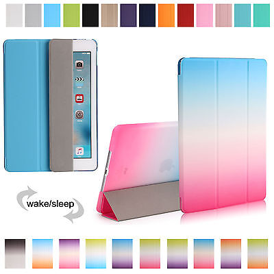 New Smart Magnetic Leather Stand Hard Case Cover For iPad 1 2 3 4 Mini Air Pro