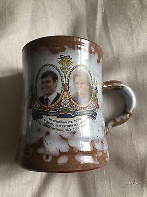 Commemorative Mug For The Marriage Of Andrew And Sarah Ewenny Pottery