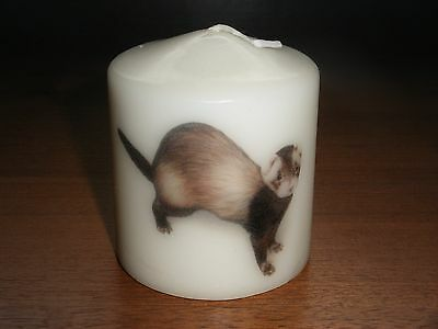 Candle Picture of Ferret #3 Can Be Personalised Gift Birthday Memorial Love New