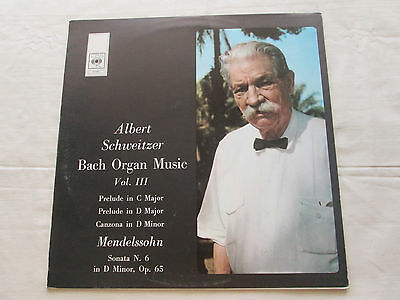 Albert Schweitzer Bach Organ Music Vol 3 - 1973 Stereo Columbia Spanish Issue