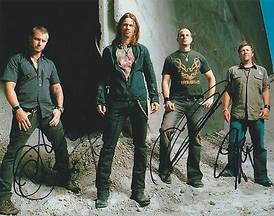 *signed*  Alter Bridge - 8X10 Photo  *see Proof*  Autographed