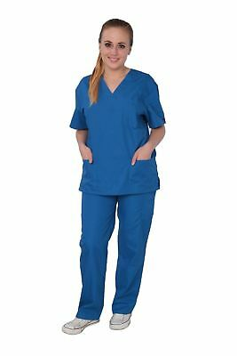 Medical Nursing Men Women Unisex Scrub Set Top Cargo Pants XS S M L XL 2XL NWT