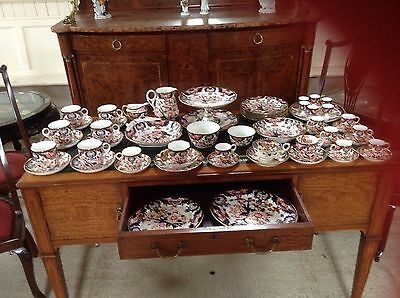 Large Collection of Royal Crown Derby Imari Pattern Porcelain