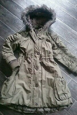 girls M&S parker coat age 9-10 years