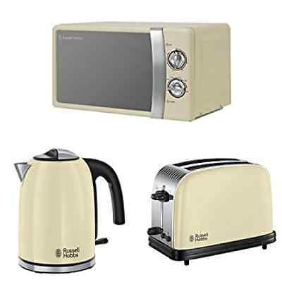 Russell Hobbs 17 L, 700 W Manual Microwave + Colours Plus Kettle and Toaster Set