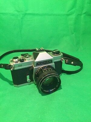 Chinon CS vintage SLR camera with auto chinos 1:1.7 55mm Lens fully tested