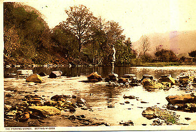 CAERNARVONSHIRE - Postcard of The Stepping Stones, Bettws y Coed - 1920/30s ?