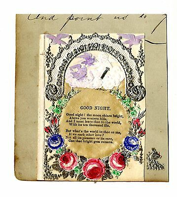 "Victorian Paper Lace Card – ""Good Night"""