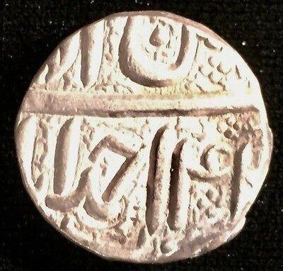 Akbar silver rupee Ilahi 42 (1597)--close to uncirculated--400 yrs old--from USA