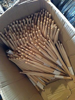 1 Pair Clearance Sale 5b Wooden Drum Sticks Unbranded Wood Tip