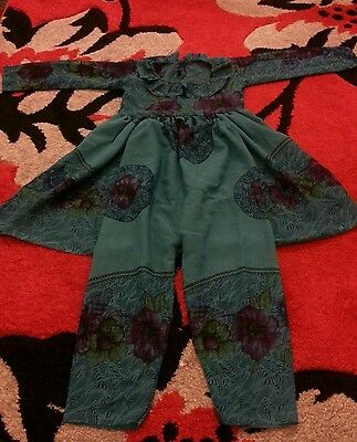 baby girl asian frock and trousers