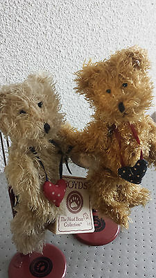 Couple Ours Peluches  sur Support Collection BOYDS