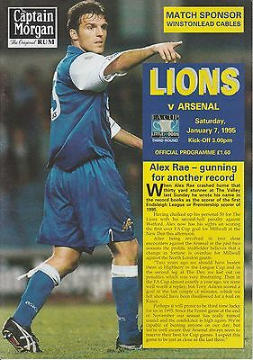 Millwall v Arsenal - Official Programme FA Cup 3rd Round 7.1.1995