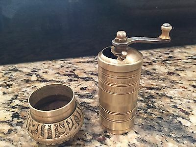 Vintage Turkish Ornate Brass Pepper Mill
