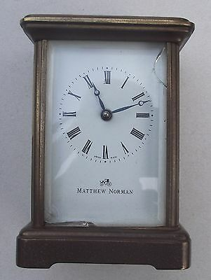 Vintage 8 Day Matthew Norman Brass Carriage Clock  1754  For Repair / Spares