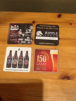 4 Beer Mats from Breweries around the UK