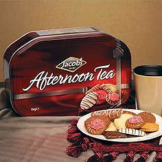 Jacobs Afternoon Tea Christmas Biscuits 1Kg Tin Chocolate Gift