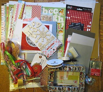 Big Christmas Scrapbooking Kit Papers & Embellishments Clear Out