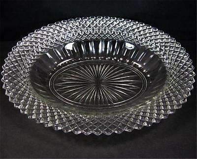 Hocking Glass Co Miss America 10in x 8in Crystal Clear Oval Serving Dish Bowl