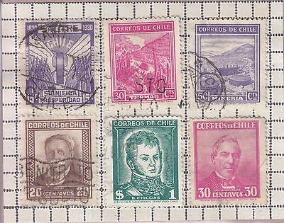 Chile 6 Mixed Stamps Used
