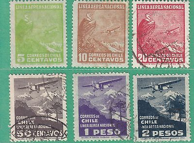 Chile 1931 6 Used Stamps