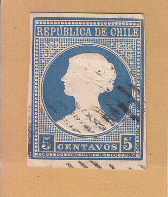 Chile Embossed Stamp Used