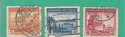 Chile 1938  3 Stamps Used