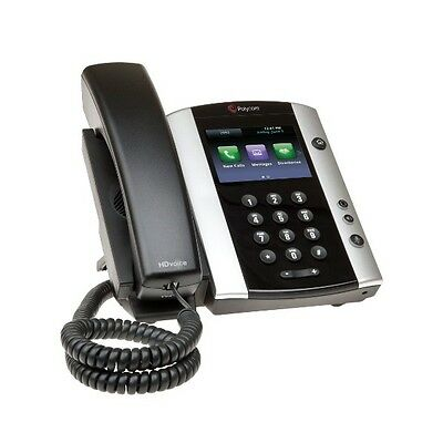 Polycom VVX 500 VoIP Phone 2201-44500-001 with Power Adapter