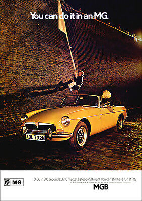 Mg Mgb 1974 Retro Poster A3 Print From Classic Advert