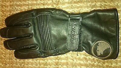 Bering Black Leather Gloves