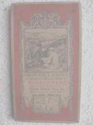 Windermere And Ulverston Ordnance Survey Map Sheet 1933 Very Good Condition
