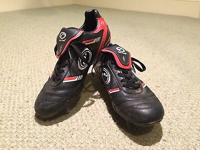 Red and Black Optimum Rugby Boots Size 5