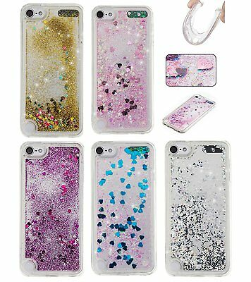 For iPod Touch 5th & 6th Gen - HARD + SOFT RUBBER Flowing Liquid Waterfall Case