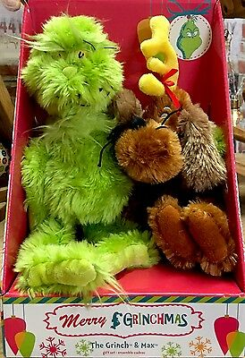 Dr Seuss The Grinch & Max Christmas Gift Set Plush - Soft Toy Brand New