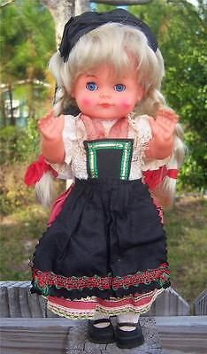 Vintage German Doll Puppe HV Hans Volk Engel Puppen - ADORABLE Blonde Dressed