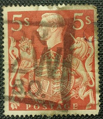 Australia Stamps. 5 Shillings Red. Kg George .