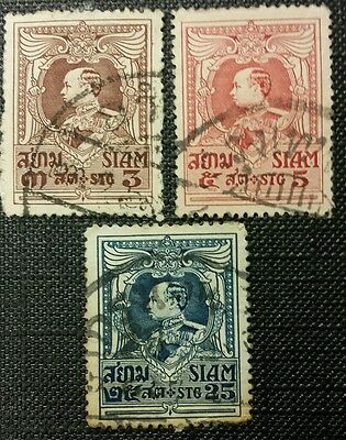 Siam Stamps. Thailand Stamps. X3